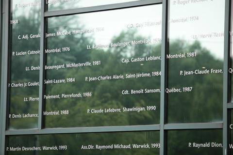 Pompiers décédés en services – Aménagement de plaques commémoratives