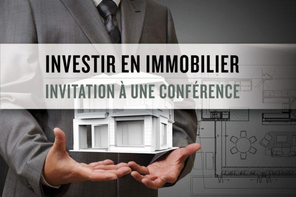 Conférence gratuite «Investir en immobilier»