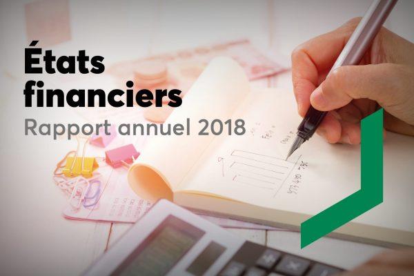 Rapport annuel – année financière 2018